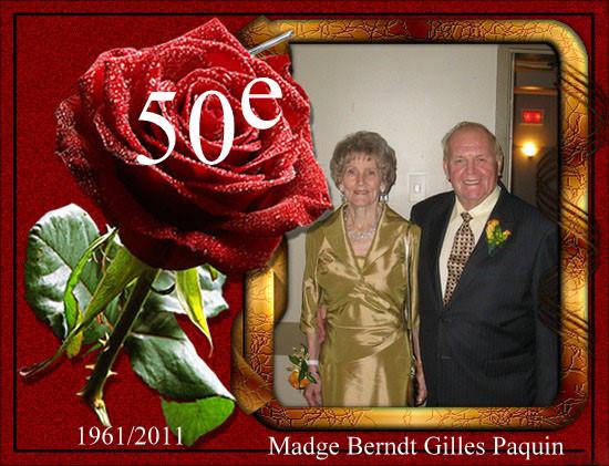 50e anniversaire de mariage de madge berndt et gilles for 50e anniversaire de mariage